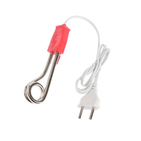 Электрокипятильник Волжанка ЭК 001, 500 Вт, спираль кольцо, 13 х 3 см, 220 В, красный