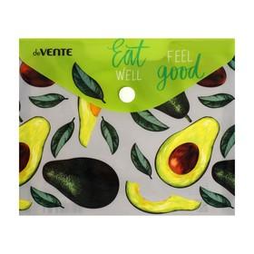 Папка-конверт на кнопке А6 deVENTE горизонт 170*140мм 150мкм Eat avocado 3079172