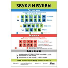 "Обучающий плакат ""Звуки и буквы"" 4086"