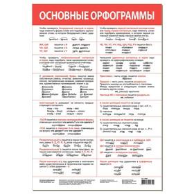"""Обучающий плакат """"Основные орфограммы"""" 4082"""