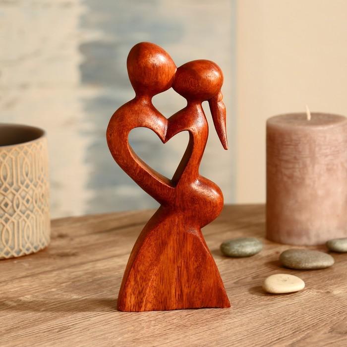 """Абстракция """"Влюблённость"""" дерево суар 20 см"""