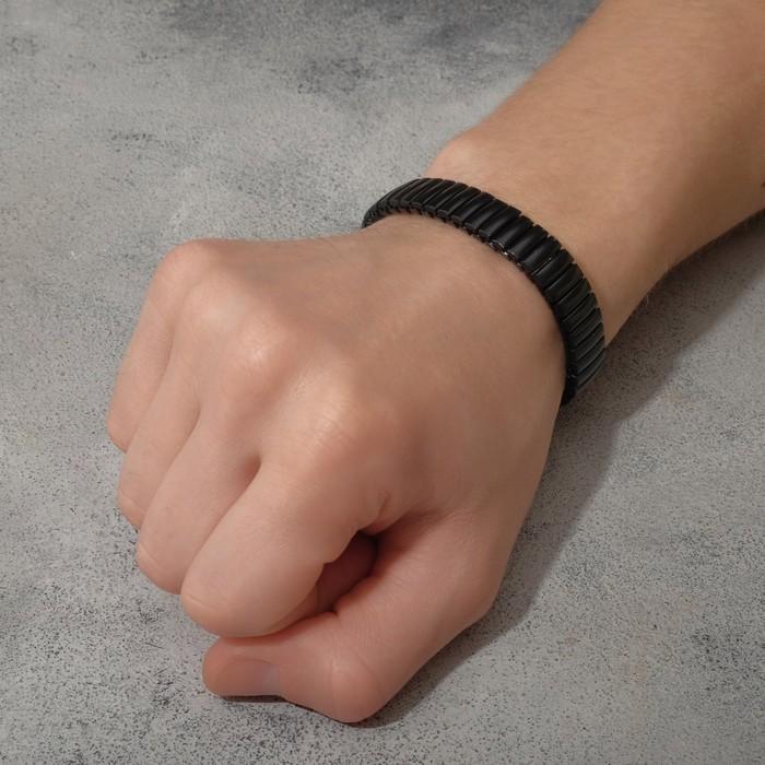 """Браслет мужской """"Каркас"""" портал, цвет чёрный, d=6,5"""