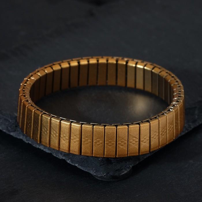 """Браслет мужской """"Каркас"""" узоры, цвет золото, d=6,5"""