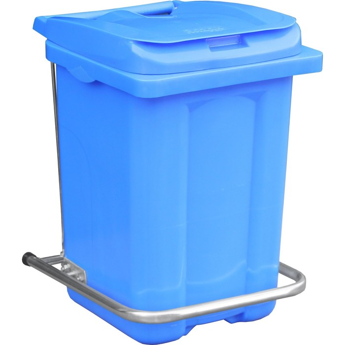 Бак пластиковый с педалью 60л 410х400х600 синий