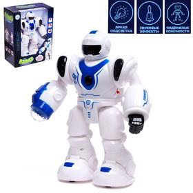"""Робот """"Бласт космический воин"""", русское озвучивание, световые эффекты, цвет синий"""