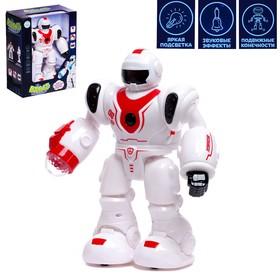 """Робот """"Бласт космический воин"""", русское озвучивание, световые эффекты, цвет красный"""