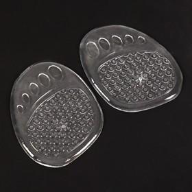 Полустельки для обуви, с протектором, силиконовые, 9 × 7 см, пара, цвет прозрачный Ош