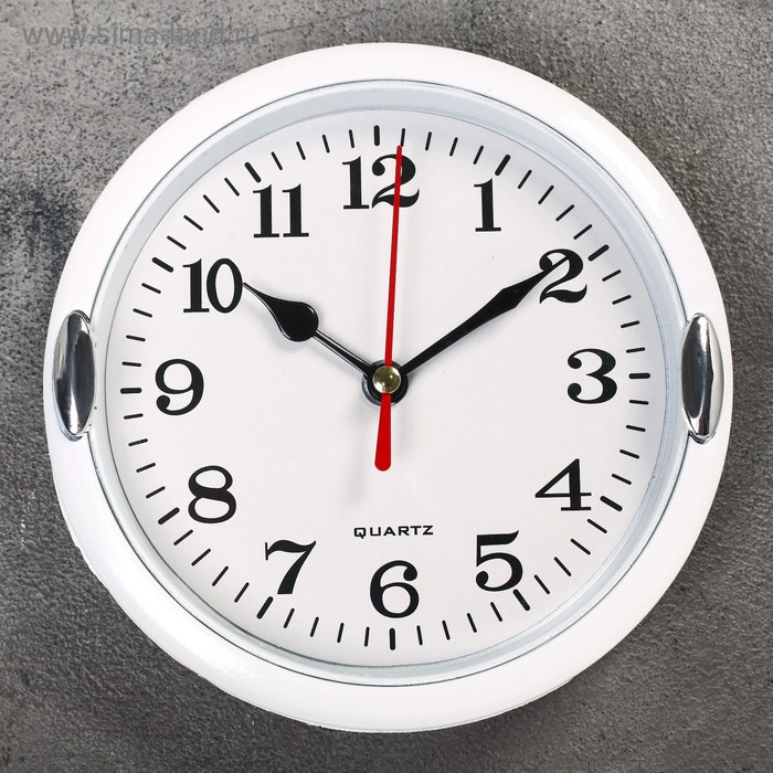 """Часы настенные, серия: Классика, """"Джессика"""", белые, d=15 см"""