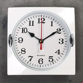 Часы настенные, серия: Классика, 'Лаура', хром, 15х15 см Ош