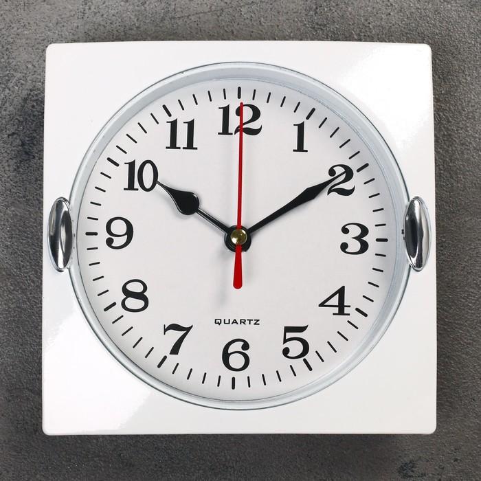 Часы настенные, серия Классика, Лаура, дискретный ход, 15 х 15 см, d13 см
