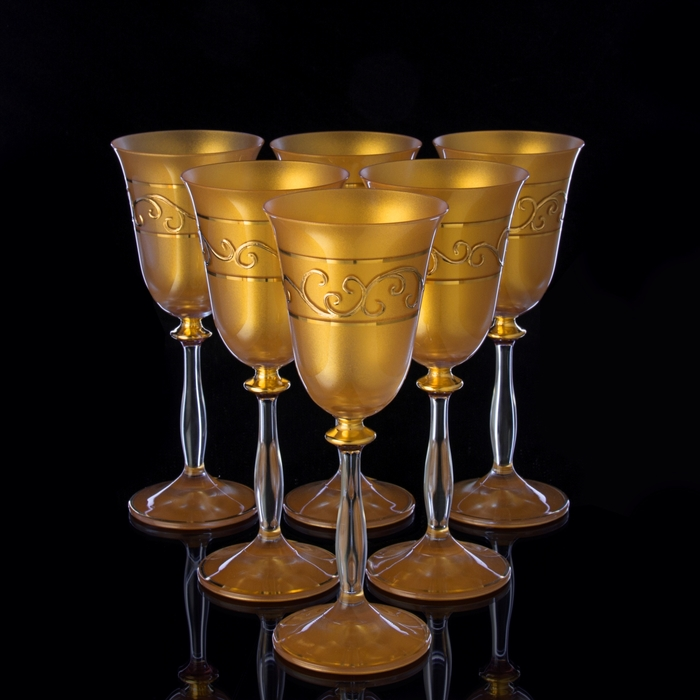 "Бокалы для вина ""Golden satin"", 6 шт., 185 мл"