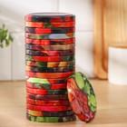 Крышка для консервирования «Элитная», ТО-82 мм, лакированная, упаковка 20 шт, цвет МИКС - Фото 2