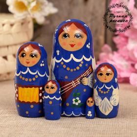 Матрёшка «Концерт», синий микс, 10 см Ош