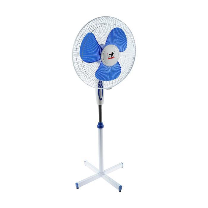 Вентилятор Irit IRV-002, напольный, 40 Вт, 3 режима, фасовка по 2 шт, бело-синий