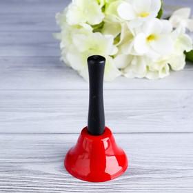 Колокольчик настольный 'Candy', красный, 12х6.5 см Ош