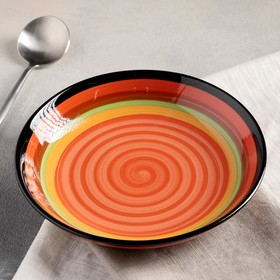 Тарелка суповая «Индия», 20×3 см, цвет МИКС