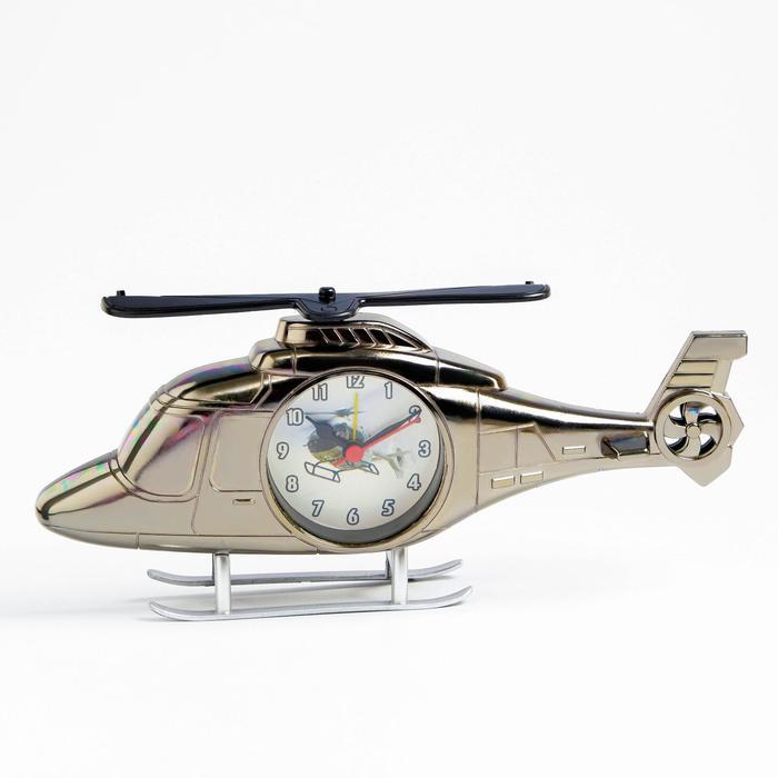 """Будильник """"Вертолет"""", дискретный ход, 11.5 х 27 см, d=6.5 см"""