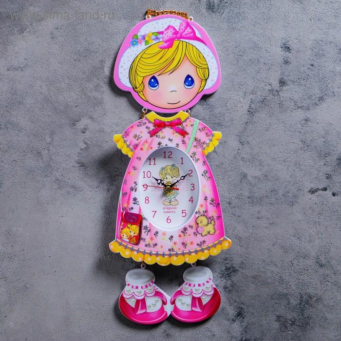 """Часы настенные, серия: Детские, """"Девочка в панамке"""" 16х42 см"""