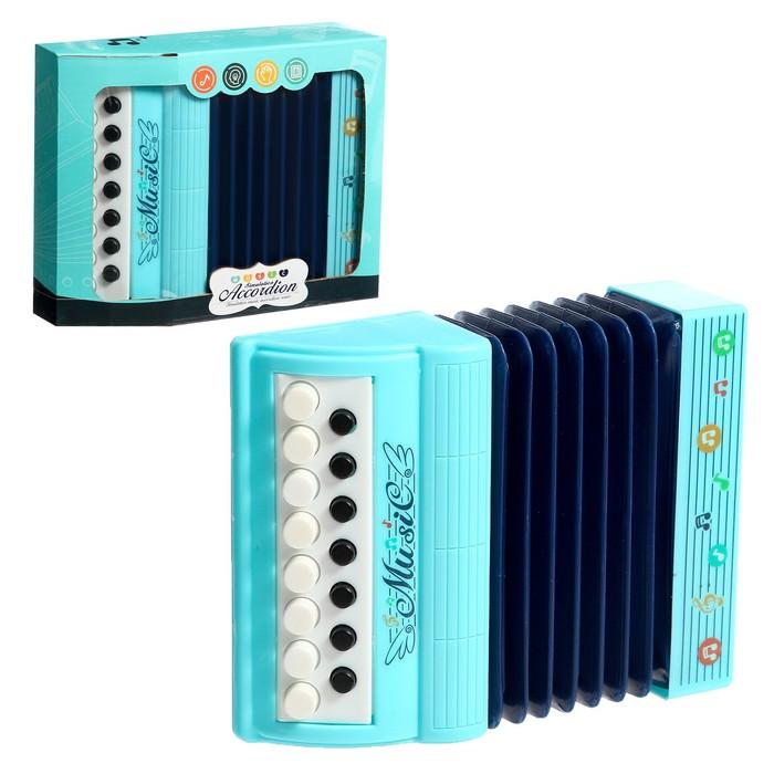 Музыкальная игрушка аккордеон Музыкальный взрыв, 13 клавиш, работает от батареек, цвета МИКС
