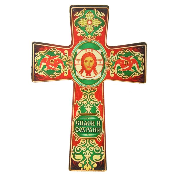 """Крест с подвесом """"Икона Спас Нерукотворный"""""""