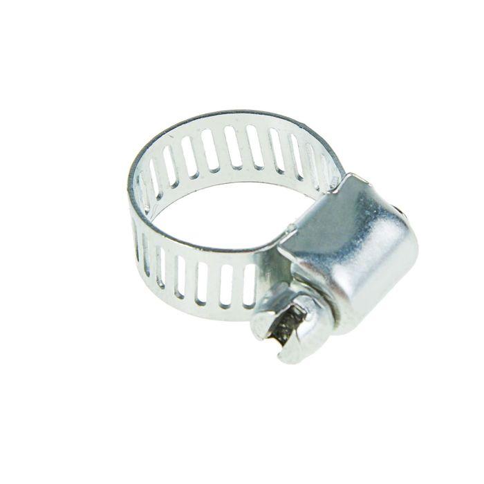 Хомут оцинкованный TUNDRA krep, сквозная просечка,диаметр 10-16 мм, ширина 8 мм