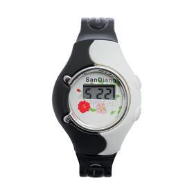 Часы наручные детские 'Волна', электронные, с силиконовым ремешком, микс Ош