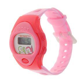 Часы наручные детские, электронные, ремешок силикон, овальный циферблат, микс Ош