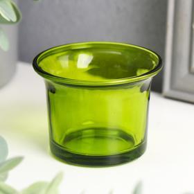 Подсвечник 'Глянец', цвет зелёный Ош