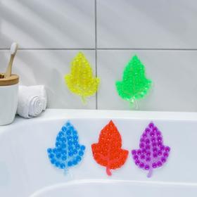 Мини-коврик для ванны «Кленовый лист», 9×13,5 см, цвет МИКС Ош