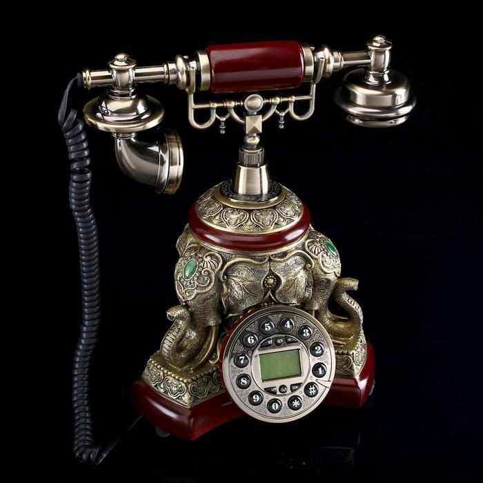 """Ретро-телефон """"Слон"""", бронза, 28х28 см"""