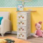Комод детский 4-х секционный Bears, цвет слоновая кость - Фото 2