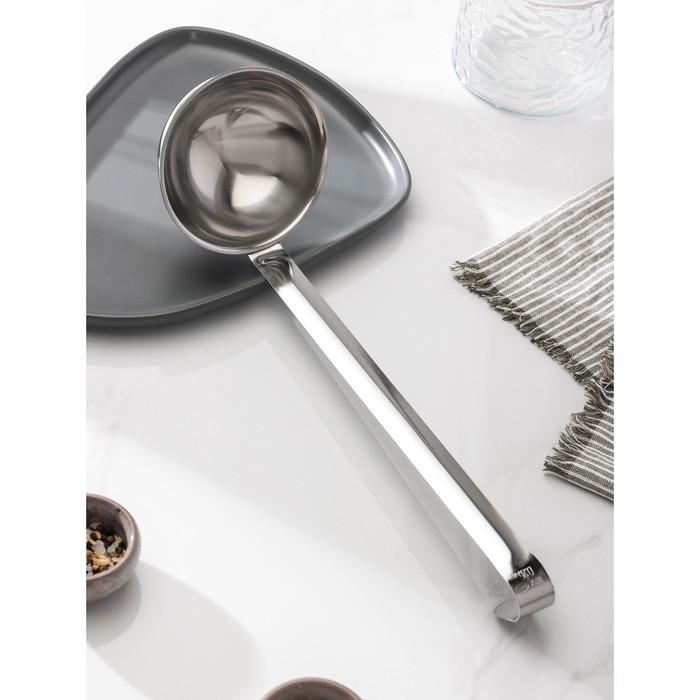 Половник для каши, 250 мл, цельнометаллическая ручка