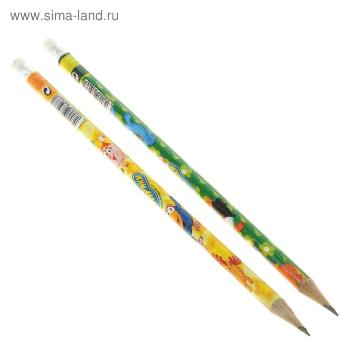 """Карандаш чернографитный """"Смешарики"""", с ластиком"""