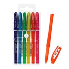 Набор гелевых ручек, 6 цветов, корпус цветной с белыми вставками, в блистере