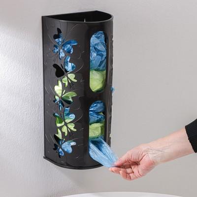 Корзина для пакетов Fly, 16,8×13,3×37,5 см, цвет чёрный