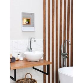 Набор для ванной комнаты 'Tokyo', цвет белый мрамор Ош