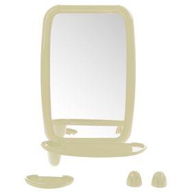 Набор для ванной комнаты 'Optima', цвет слоновая кость Ош
