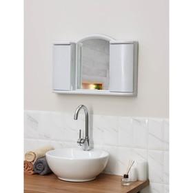 Шкафчик зеркальный для ванной комнаты 'Арго', цвет белый мрамор Ош
