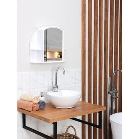 Шкафчик для ванной комнаты с зеркалом «Орион», цвет снежно-белый Ош