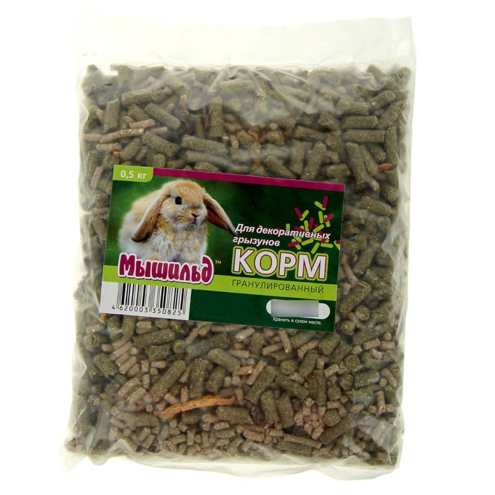 """Гранулированный корм """"Мышильд"""" для декоративных грызунов, 500 г"""