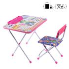 Набор детской мебели «Фиксики. Знайка» складной, цвет розовый