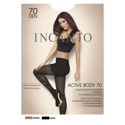 Колготки женские INCANTO Active Body 70 den, цвет загар (daino), размер 3 - Фото 1