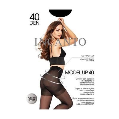 Колготки женские INCANTO Model Up 40 den, цвет чёрный (nero), размер 2 - Фото 1
