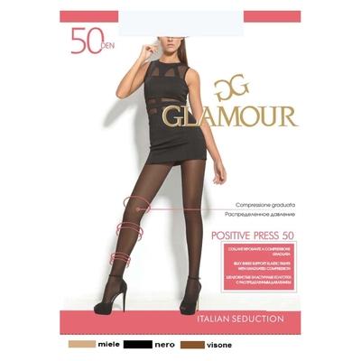 Колготки женские GLAMOUR Positive Press 50 цвет лёгкий загар (miele), р-р 3