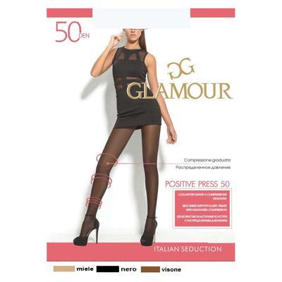 Колготки женские GLAMOUR Positive Press 50 цвет чёрный (nero), р-р 3