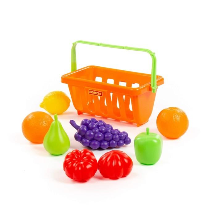 Набор продуктов с корзинкой №2, 9 элементов, цвета МИКС