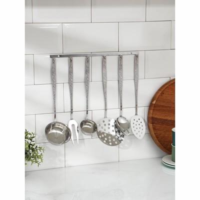 Набор кухонных принадлежностей Добросталь (Нытва) «Уралочка», 6 предметов, толщина 2,5 мм, на подвесе