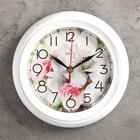 """Часы настенные круглые """"Цветок"""" белые"""