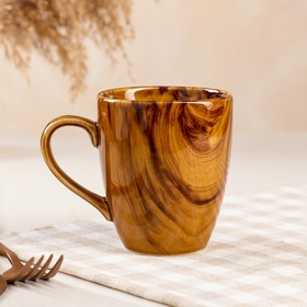 """Кружка """"Европа"""" радуга, коричневая, 300 мл"""