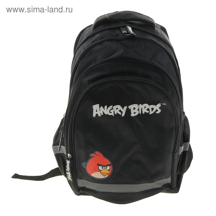Рюкзак моложежный Angry birds 44*29*15см чёрный